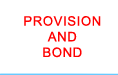 link to provision and bond